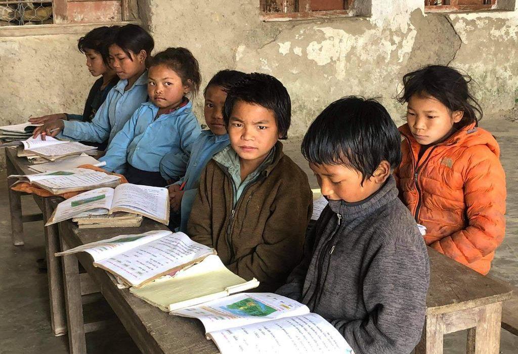Nepalese kinderen op school